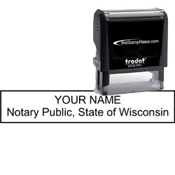 Notary Stamp - Trodat 4915 - Wisconsin