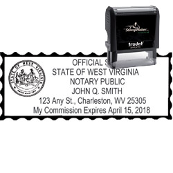 Notary Stamp - Trodat 4915 - West Virginia