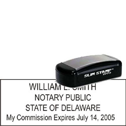 Notary Pocket Stamp 2773 - Delaware