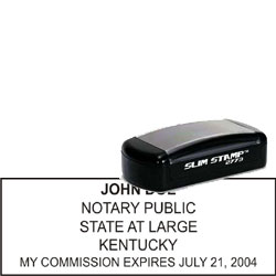 Notary Pocket Stamp 2773 - Kentucky