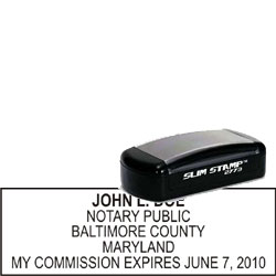 Notary Pocket Stamp 2773 - Maryland
