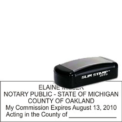 Notary Pocket Stamp 2773 - Michigan
