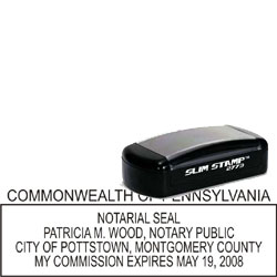 Notary Pocket Stamp 2773 - Pennsylvania