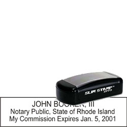 Notary Pocket Stamp 2773 - Rhode Island