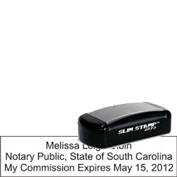 Notary Pocket Stamp 2773 - South Carolina