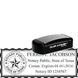 Notary Pocket Stamp 2773 - Texas