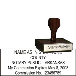 Notary Wood Rectangle - Arkansas