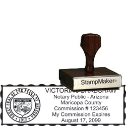 Notary Wood Rectangle - Arizona