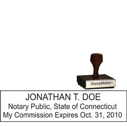 Notary Wood Rectangle - Connecticut