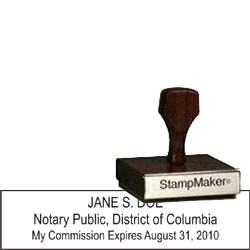 Notary Wood Rectangle - Dist. Of Columbia