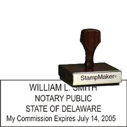 Notary Wood Rectangle - Delaware