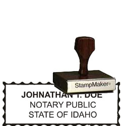 Notary Wood Rectangle - Idaho