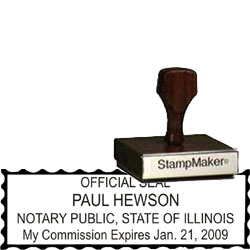 Notary Wood Rectangle - Illinois