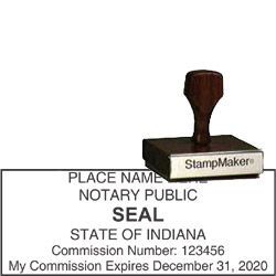 Notary Wood Rectangle - Indiana