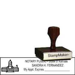 Notary Wood Rectangle - Kansas