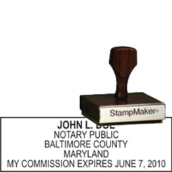 Notary Wood Rectangle  - Maryland