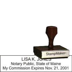 Notary Wood Rectangle - Maine