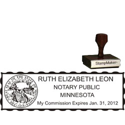 Notary Wood Rectangle - Minnesota