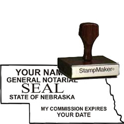 Notary Wood Rectangle - Nebraska