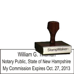 Notary Wood Rectangle - New Hampshire