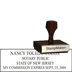 Notary Wood Rectangle - New Jersey