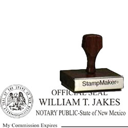 Notary Wood Rectangle - New Mexico