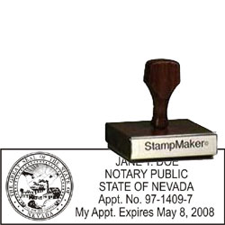 Notary Wood Rectangle - Nevada