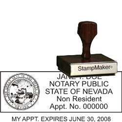 Notary Wood Rectangle - Nevada 2