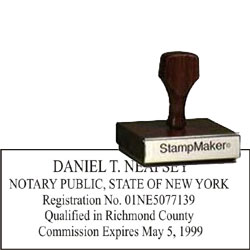 Notary Wood Rectangle - New York