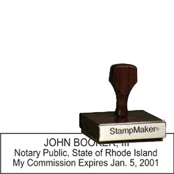 Notary Wood Rectangle  - Rhode Island