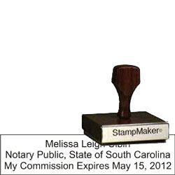 Notary Wood Rectangle - South Carolina