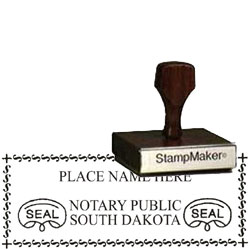 Notary Wood Rectangle - South Dakota