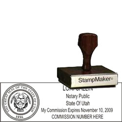 Notary Wood Rectangle - Utah 2
