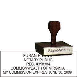 Notary Wood Rectangle - Virginia