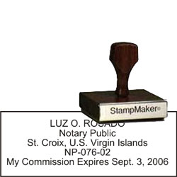 Notary Wood Rectangle - Virgin Islands
