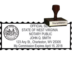 Notary Wood Rectangle - West Virginia