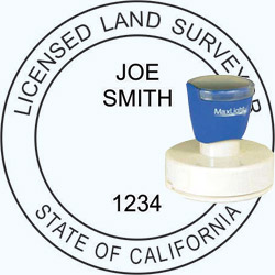 Land Surveyor - Pre Inked Stamp - California