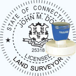 Land Surveyor - Pre Inked Stamp - Connecticut