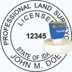 Land Surveyor - Pre Inked Stamp - Idaho