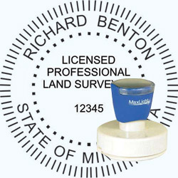 Land Surveyor - Pre Inked Stamp - Minnesota