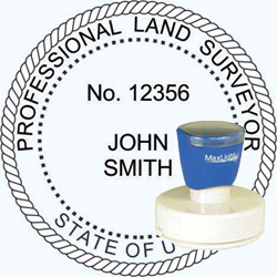 Land Surveyor - Pre Inked Stamp - Utah