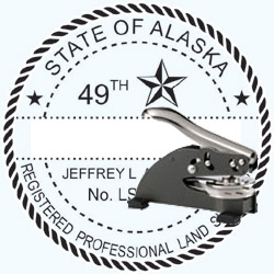 Land Surveyor Seal - Desk - Alaska