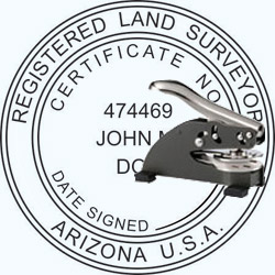 Land Surveyor Seal - Desk - Arizona