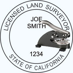 Land Surveyor Seal - Desk - California
