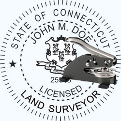 Land Surveyor Seal - Desk - Connecticut