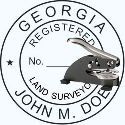 Land Surveyor Seal - Desk - Georgia