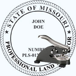 Land Surveyor Seal - Desk - Missouri
