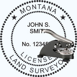 Land Surveyor Seal - Desk - Montana