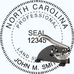 Land Surveyor Seal - Desk - North Carolina