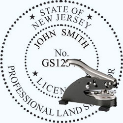 Land Surveyor Seal - Desk - New Jersey